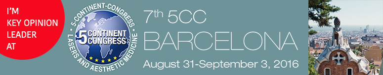 7th 5-Continent-Congress, to be held August 31 - September 3, 2016 in Barcelona.